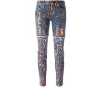 Jeans mit Einsätzen