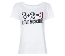 T-Shirt mit Zahlen-Print