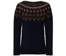 Jacquard-Pullover mit Reißverschlussdetail