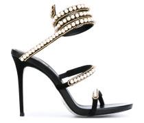 Sandalen mit Perlenverzierung - women