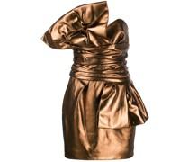 Schulterfreies Metallic-Kleid