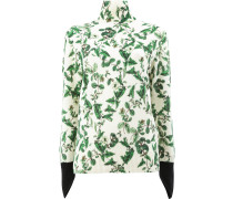 Rollkragenpullover mit floralem Print