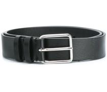 silver-tone hardware belt