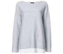 Cashmere Blend Plated V- Neck Sweater