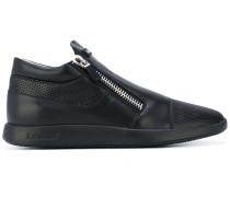 - perforated zip sneakers - men