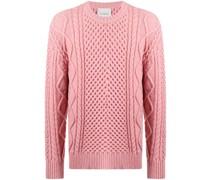 Pullover mit Aran-Strickmuster