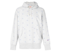 all over logo hoodie