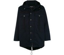 embossed button parka