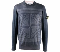 logo-intarsia crew-neck jumper