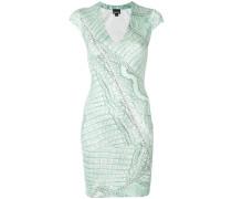 snakeskin print bodycon dress
