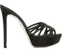Sandalen mit Strasssteinen - women - Leder/PVC