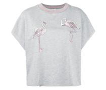 Oberteil mit Flamingostickerei - women