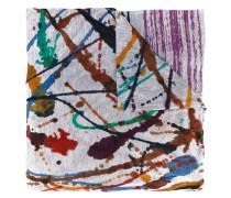 paint splash print scarf - men - Modal