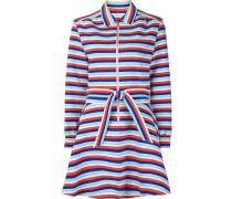 Gestreiftes Kleid mit ausgestelltem Schnitt