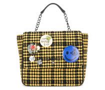 Tweed-Rucksack mit Buttons