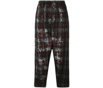 G-Tab check-pattern trousers