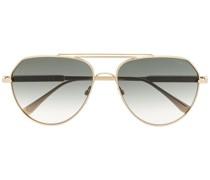 Getönte Pilotenbrille mit Farbverlauf
