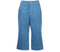Weite Cropped-Jeans