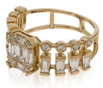 18kt 'Illusion Centre' Gelbgoldring mit Diamanten