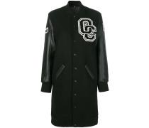 Lange College-Jacke aus Wolle