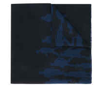 Wollschal mit Silhouetten-Print - men - Wolle
