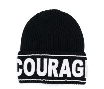 Courage embroidered beanie hat