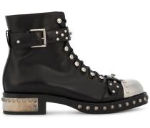 Stiefel mit Nieten - women - Leder/metal/rubber