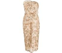 Trägerloses Kleid mit Pailletten