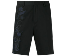 floral embroidered bermuda shorts