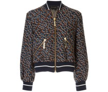 Glitter-Jacke mit Animal-Print