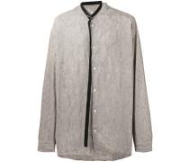 belt tie striped shirt - men - Leinen/Flachs