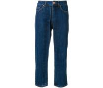 Cropped-Jeans mit Kellerfalte