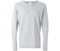 long-sleeve fitted sweatshirt