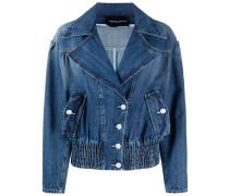 Jeansjacke mit breitem Revers
