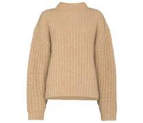 Grob gestrickter Pullover mit Stehkragen