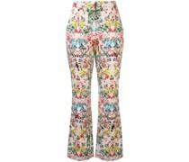 Bootcut-Hose mit Blumen-Print