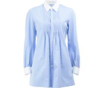 Gestreiftes Hemd mit Faltendetails - women