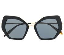 Sonnenbrille mit eckigem Gestell