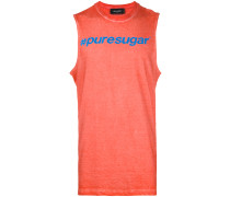 slogan print vest top