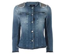 Jeansjacke mit verzierten Schultern