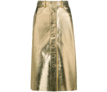 Lederrock im Metallic-Look