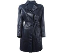 Mantel mit Gürtel - women - Lammleder - 42