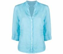 linen split neck shirt