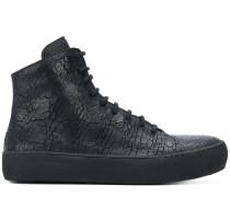 High-Top-Sneakers aus strukturiertem Leder