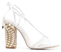 Sandalen mit geflochtenen Details