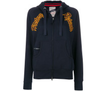 snake embroidered hoody