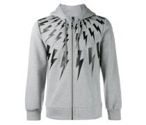 lightning bolt print hoodie