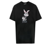 Cheeks T-Shirt mit Cartoon-Print