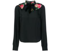 ruffled neck blouse