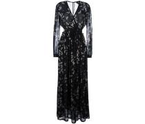 Langes 'Birds' Kleid mit Print